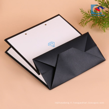 sac de papier kraft poignée plate pliante personnalisée pour les pantalons