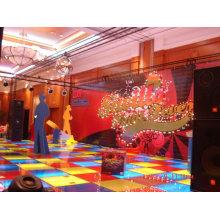 Le plancher surélevé d'exposition peut être réutilisé, plancher d'exposition d'éclairage de LED, plancher de danse