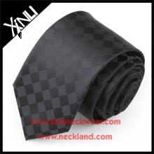 Laço tecido da dobra de seda do jacquard 7 da marca própria 100% de seda
