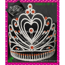 New design wholesale, Pink heart wholesale rhinestone crown