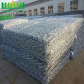 Hot mencelupkan galvanis Hexagonal Wire Mesh Gabion Basket