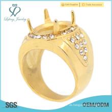 Neueste Mode Engagements Ringe Designs, Gold Rubin Finger Ringe für Männer heißen Verkauf