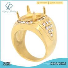 Latest fashion engagements rings designs , gold ruby finger rings for men hot selling