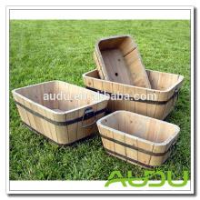 Pote de la planta de Audu / pots de flor baratos de madera