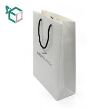 Окружающей среды белый крафт-бумага черный логотип печати хлопка строки цвета pantone внутри бумажный мешок