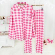 100% Cotton Yarn Dyed Flannel Sleepwear Set