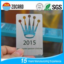 Металлическая визитная карточка PVC Card