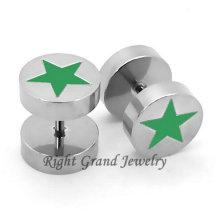 Bijoux en acier chirurgical de perle d'étoile de l'acier 316L non piercing