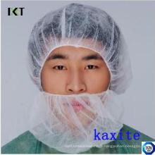 Masque de barbe non tissé jetable avec double élastomère pour l'industrie médicale ou alimentaire Kxt-Nbc01