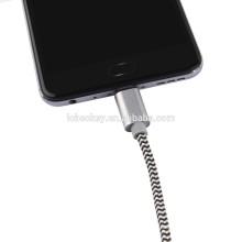 Câble USB de type C en nylon ODM OEM 2017 pour Samsung S7 Câble USB Android