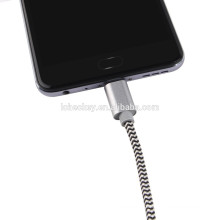 2017 OEM ODM Nylon Type C USB Cable For Samsung S7 Android USB Cable