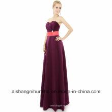 Brautjungfernkleider bodenlangen langen A-Line Schatz Hochzeit Kleid