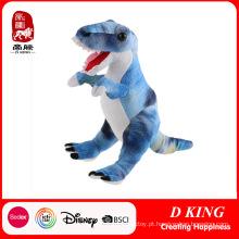 Dinossauro enchido feito sob encomenda do brinquedo do luxuoso da venda por atacado da fábrica de Yangzhou