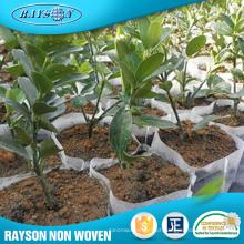 Tela não tecida material da tela da tampa da exploração agrícola de PP Spunbond / tela não tecida material do saco da planta do geotêxtil