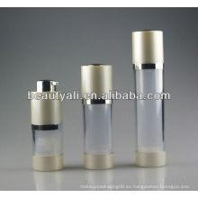Venta caliente 15.30.50ml botella airless cosmética rotatoria de la botella de la botella airless botella airless del suero