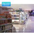 Ouyee Shelf Parts Display Gondolas Metal Commercial Equip Wall For Store Super Market Racks Wooden Supermarket Shelves
