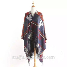 Fashion Jacquard ladies winter pashmina poncho scarf