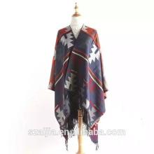 Moda Jacquard senhoras inverno pashmina poncho lenço