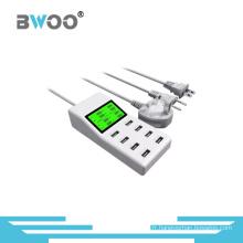 Chargeur USB d'affichage à LED de 8 ports avec des bouchons de l'UE Us UK