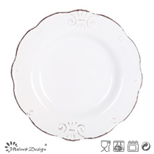 19.5cm Ceramic Salad Plate Embossed Design