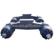 Axle Suspension-Rigid Suspension 80T Bogie Axle Suspension for semi Trailer parts
