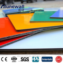 Alunewall PVDF coating A2 B1 grade fireproof Aluminium Composite Panel
