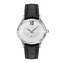 32 mm Simple black leather women watch