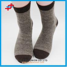 Angora wool new style coffee with cream-colored knitting casual warm customized logo socks