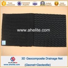 Virgem HDPE Geonet Core Geocomposite Rede de drenagem