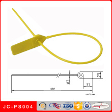 Selo plástico da segurança do banco Jc-PS004, laços de cabo impressos