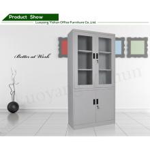 metal furniture bookcases double doors cabinet Glass door file cabinet
