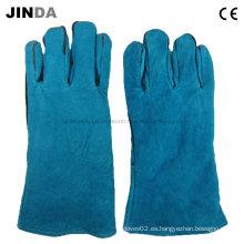Cuero de vaca de trabajo de soldadura guantes (L012)