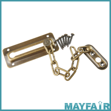 Accessoires de quincaillerie Acier Zinc Alloy Safety Metal Door Chain