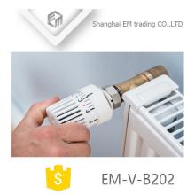 EM-V-B202 Válvula de radiador de ángulo de latón termostático estándar
