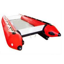Barco inflável de fibra de vidro com popa