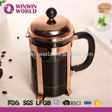 With Rose Gold Color SS holder Pyrex Glass French Press For Coffee And Tea 1L