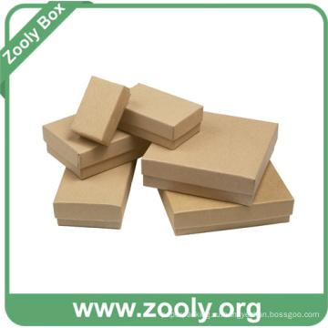 Малая простая экологически чистая натуральная коричневая крафт-бумага картонная коробка