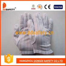 Guantes cosidos de nylon con dobladillo, guantes antiestáticos Dch118