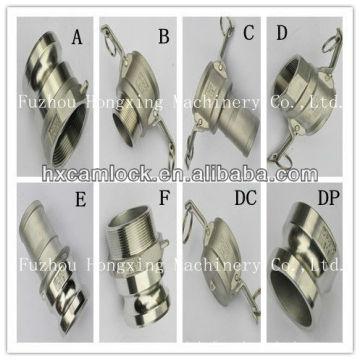 Acoplamiento de camlock de acero inoxidable para líquidos, fertilizantes, plantas de acero
