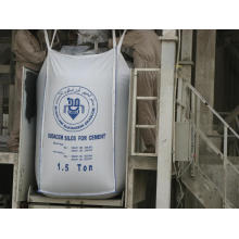 Bote superior e inferior de la bolsa FIBC Jumbo para el cemento a granel