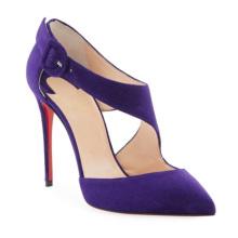 Pointed Heels Kitten Heel Pumps Gold Toe High Heel Suede Leather Women Shoes Heels Sexy Stiletto Pumps for Ladies