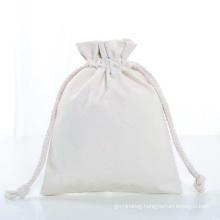 custom reusable eco friendly cotton jewellery bag canvas printed logo jewelry storage bag