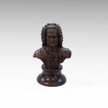 Busts Brass Statue Musician Bach Decor Bronze Sculpture Tpy-806