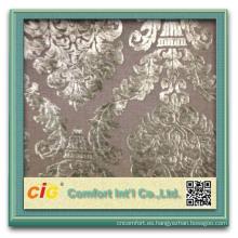 el último diseño tejido de terciopelo de china para el sofá y muebles decorativos sofá tela que hace punto a tela de poliester y nylon