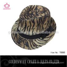 wholesale leopard print cheap fedora hats