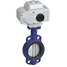 Q971F-10CT-DN100 4 inch Electric Wafer Butterfly Valve