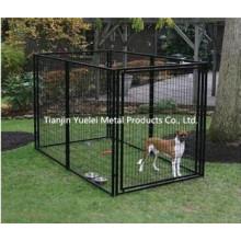 Дешевые и прочный ПВХ покрытием черный Pet собак Кейдж / собака птица попугай Кейдж / собака Cat Pet Cage