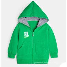 Großhandels-kundenspezifischer KinderHoody Soems, Kind reißen Hood-Jacke hoch
