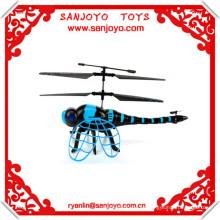 juguete del rc de la libélula de los recambios del helicóptero del rc 4.5ch con las alas del batido y la luz del LED