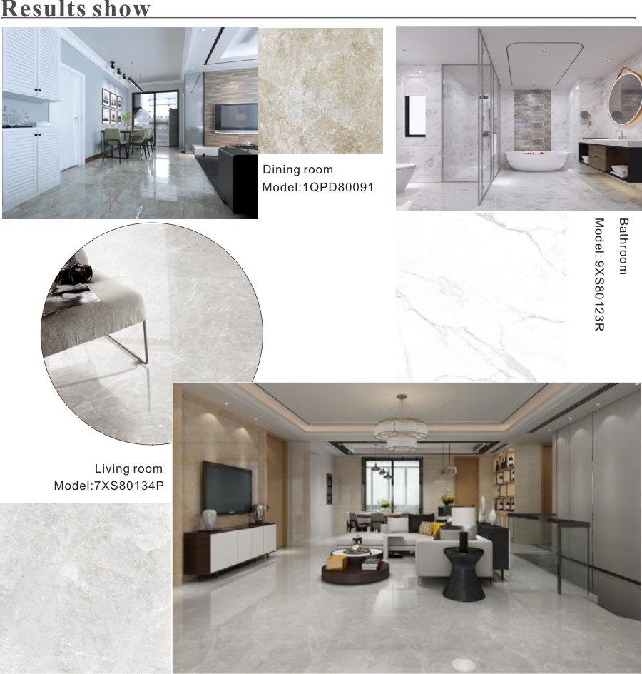 white gloss marble effect tiles